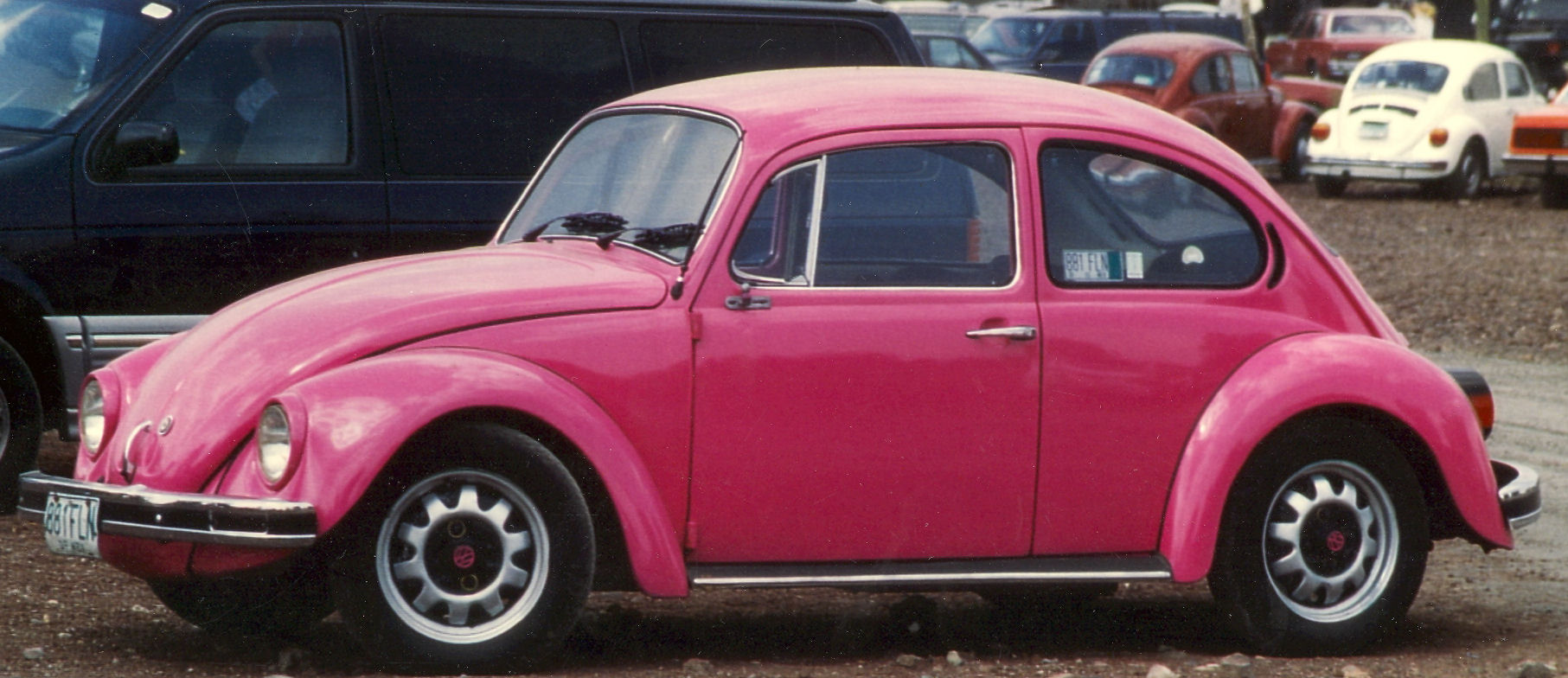 beetle drivers volkswagen over pink magazine auctioned